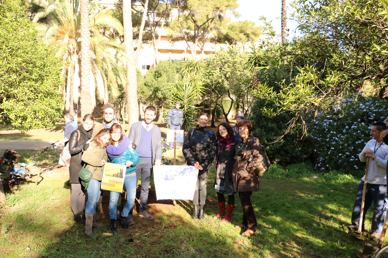 Albero donato a Villa Trabia grazie al progetto YOU.CO.DE.