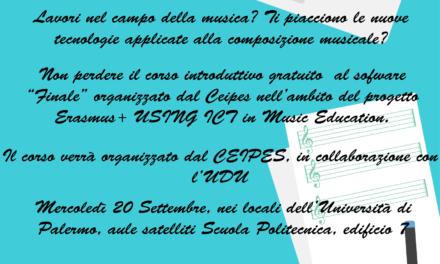 """Corso Gratuito Utilizzo Software musicale """"Finale"""""""