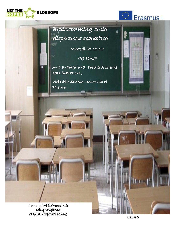 Brainstorming sulla dispersione scolastica!