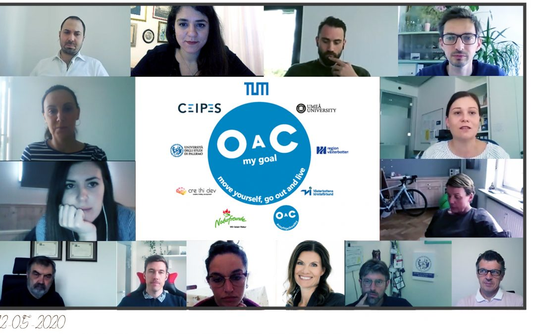 OAC – My Goal: the 6th Transnational Meeting of the project (online)