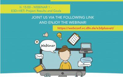 E3D+VET: on October 21th the first webinar