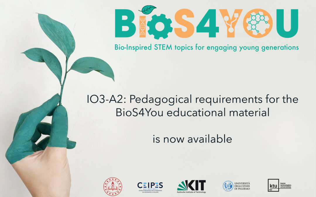 """""""BIOS4YOU"""": Pedagogical requirements for the Bios4You educational material"""