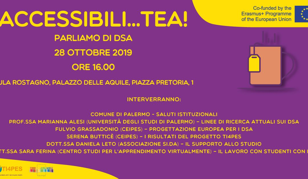 We are pleased to invite you to Accessibili…TEA!