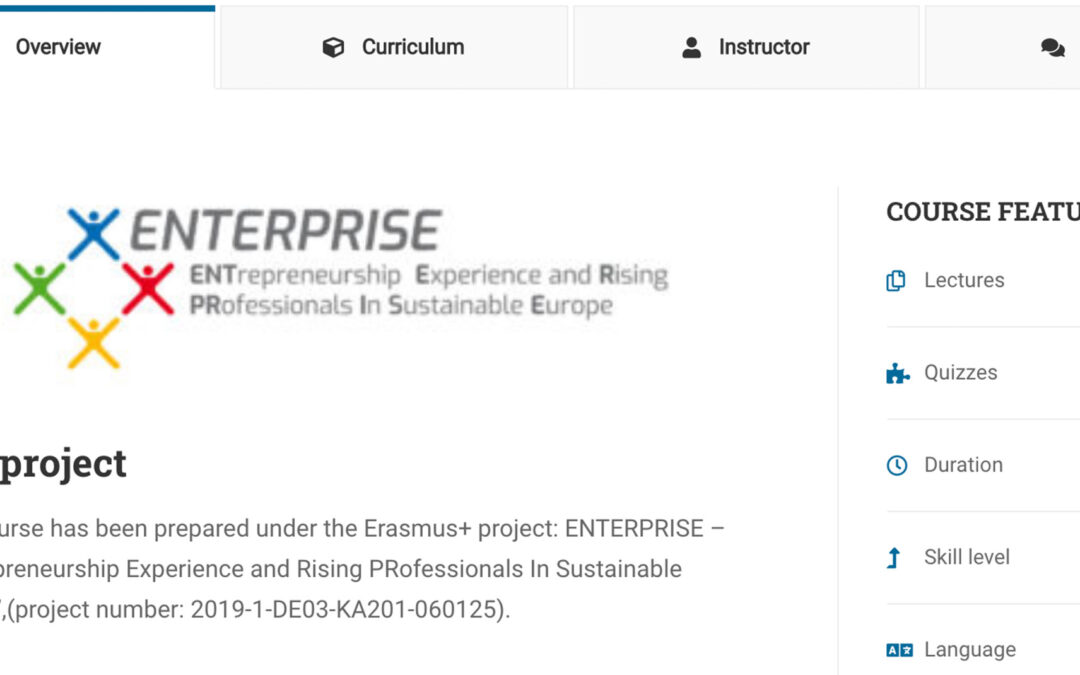 ENTERPRISE: the E-learning platform developed by CEIPES is now online